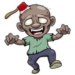 illustration of Cartoon zombie  Vector