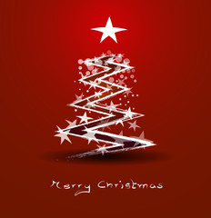 abstract background red christmas tree