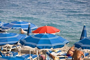 Plage privée à Nice, France