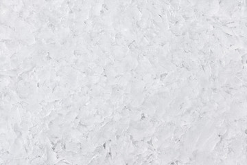 Closeup of fresh white ice texture as background