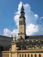 Tower of the monastery at Jasna Gora, Poland.