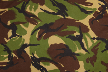 British armed force dpm camouflage fabric texture background