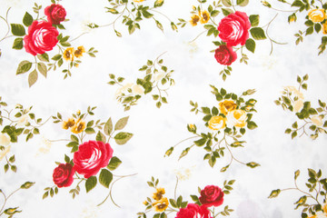 fabric retro pattern with floral ornament