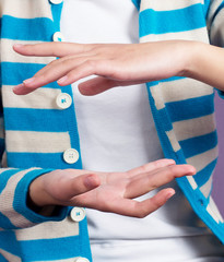 Close-up hands