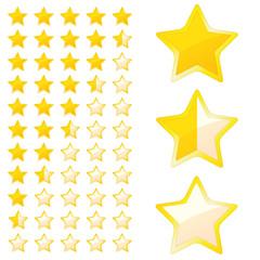 5 Sterne Bewertungssystem - Vektor