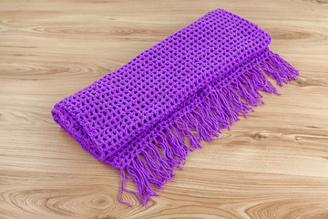 Colorful knitted scarf