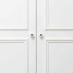 Plain white wooden doors