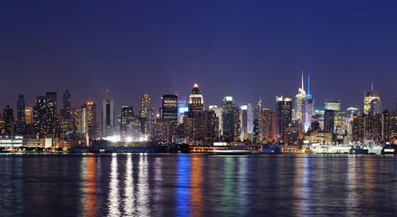 New York City Manhattan at dusk