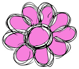 rosa Blumensilhouette...