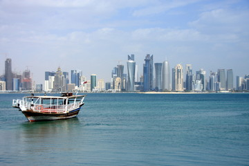 Doha Qatar Modern buildings and architecture sky scrapper