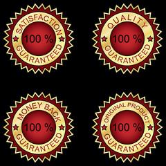zestaw czerwonych ikon