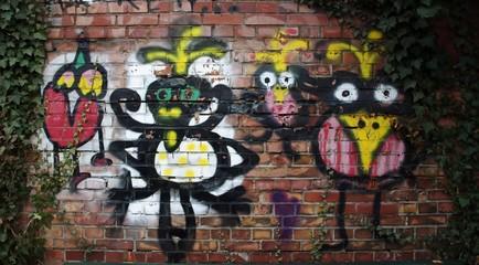 buntes Vogelgraffiti