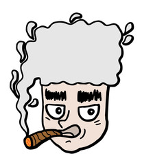 Smoking face