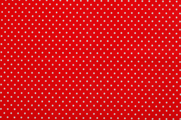 red polka dot fabric pattern