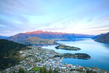 Keuken foto achterwand Nieuw Zeeland Queenstown New Zealand Sunset