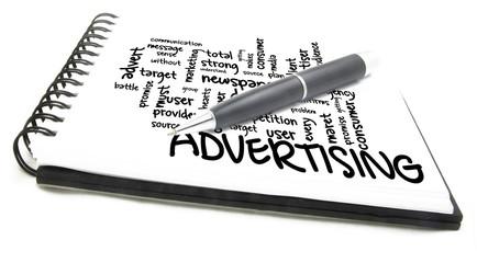 Advertising word cloud
