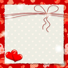 Valentine heart pattern and background, vector