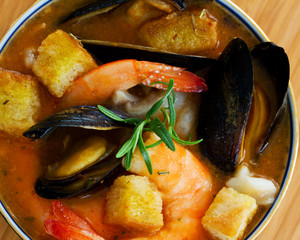 Fish soup - Traditional Asian fish soup