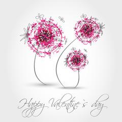 pink valentine dandelion