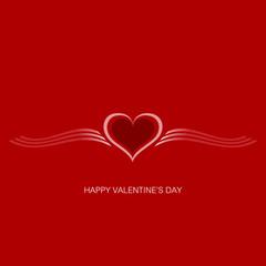 Valentine Gift card. Valentine's Day. Vector background