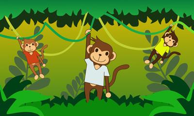 Foto auf Leinwand Waldtiere Numby Monkey