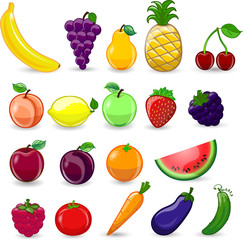 Мультфильм фрукты и овощи