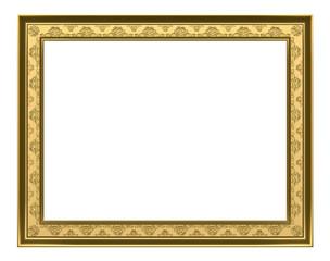 gold  frame - 3d rendering
