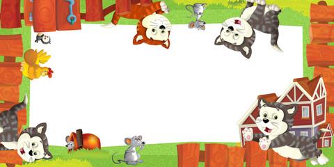 Cartoon farm frame - illustration for the children