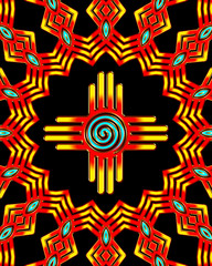 Zia Sonne - Spirale - Zia Pueblo - New Mexico