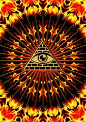 Allsehendes Auge Gottes -  Symbol der Erkenntnis & Allwissenheit