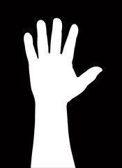 one man hand vector