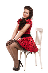 Attractive pin-up girl