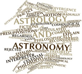 Word cloud for Astrology and astronomy