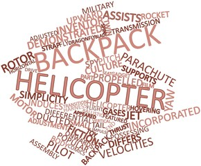 Word cloud for Backpack helicopter