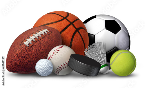 Fototapete Sports Equipment