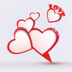 Valentine's day bubble speech