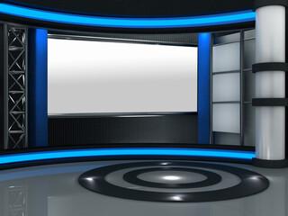 3d studio tv virtual set Wall mural