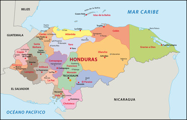 Honduras Administrativ Verwaltung