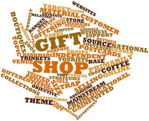 Word cloud for Gift shop