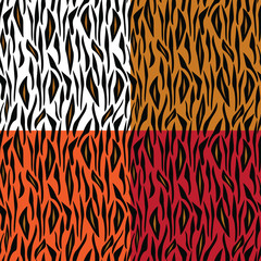 Abstract seamless tiger skin pattern