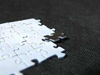 Fototapeta Black and white puzzles obraz