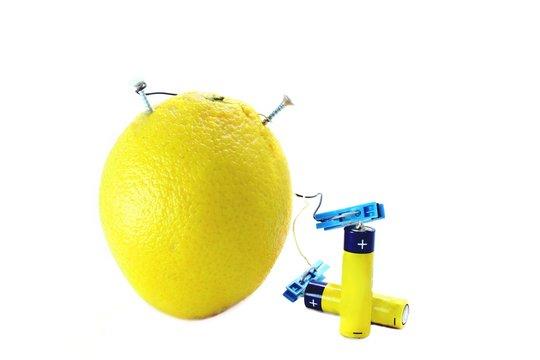 Lemon charging batteries