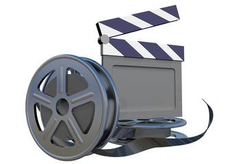 FILM AND CLAP BOARD CINEMA - 3D