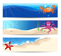 Banners With Sea Creatures