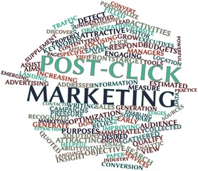 Word cloud for Post-click marketing