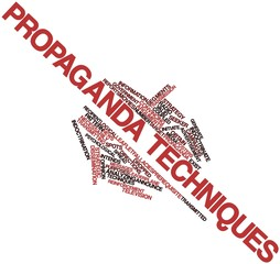 Word cloud for Propaganda techniques