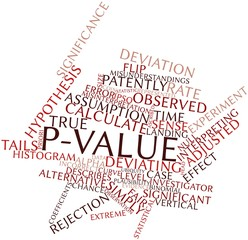 Word cloud for P-value