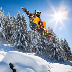 Fototapete - salto su neve fresca