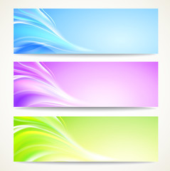 Abstract banners set.