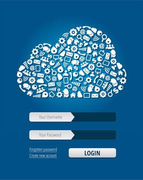 Cloud Computing Login Form
